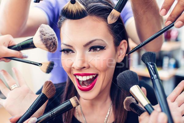 Pinup belleza retrato bastante nina maquillaje Foto stock © MilanMarkovic78