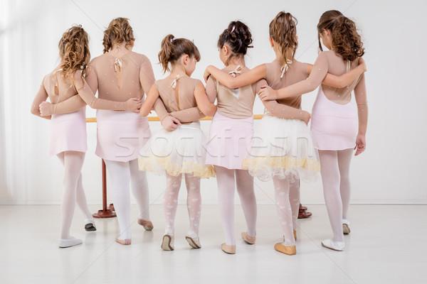 Stock fotó: Kicsi · csoport · kislányok · ruhák · balett · osztály