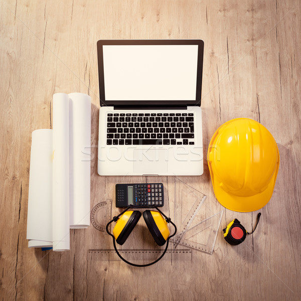 Workspace Of A Architecture Engineer Stock photo © MilanMarkovic78