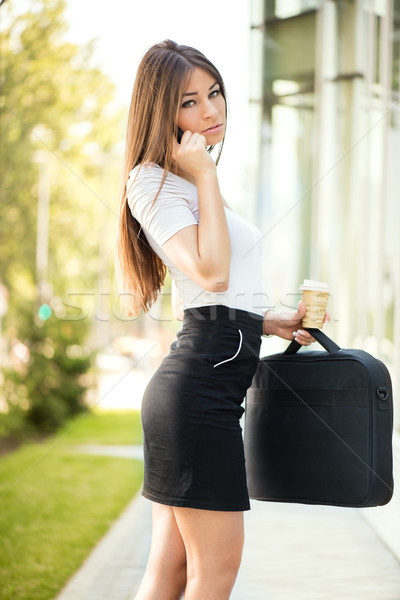 Overworked businesswoman Stock photo © MilanMarkovic78