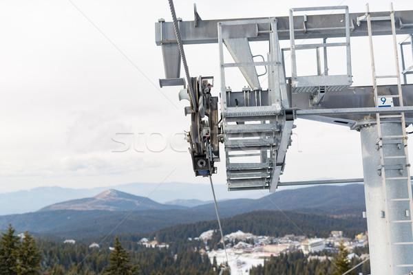 Ski Lift on Winter Day Stock photo © MilanMarkovic78