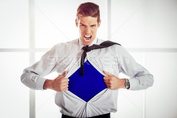 Young Businessman - Superhero Stock photo © MilanMarkovic78