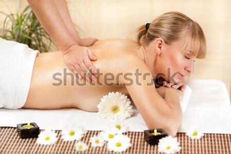 Young Woman Enjoying At Spa Salon Stock photo © MilanMarkovic78