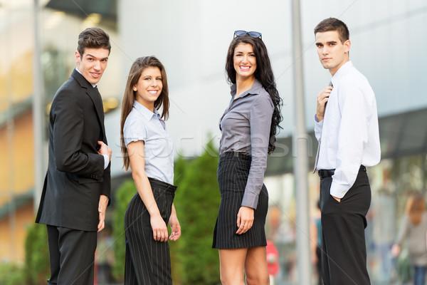 Młodych przystojny ludzi biznesu portret grupy udany Zdjęcia stock © MilanMarkovic78
