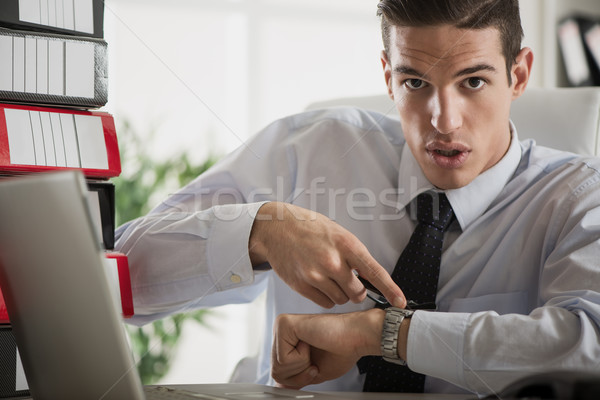 Overworked Businessman Stock photo © MilanMarkovic78