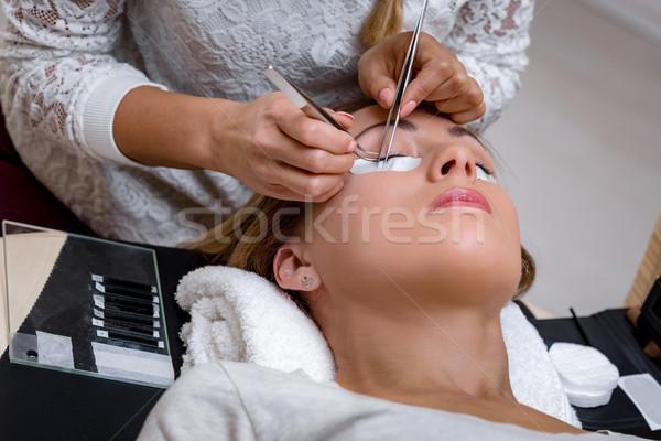 процедура девушки стороны лице Сток-фото © MilanMarkovic78