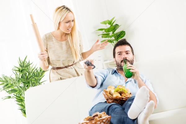 Shut Up Wife, Match Starts Stock photo © MilanMarkovic78