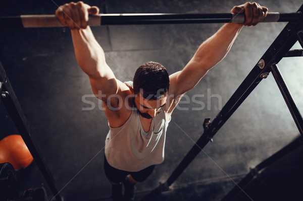 Rien fort jeunes musculaire homme exercice Photo stock © MilanMarkovic78