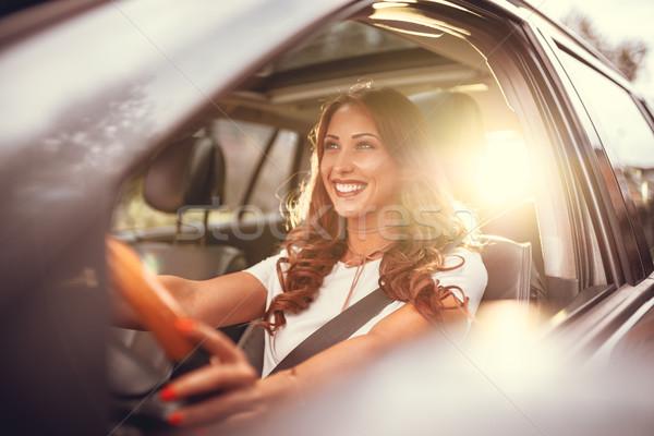 Enjoying Her New Car Stock photo © MilanMarkovic78