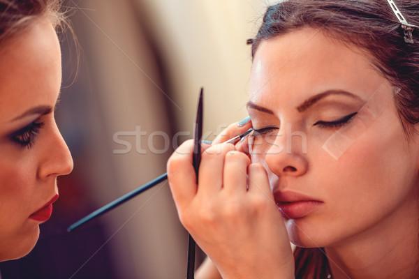 Perfect ogen eyeliner Stockfoto © MilanMarkovic78