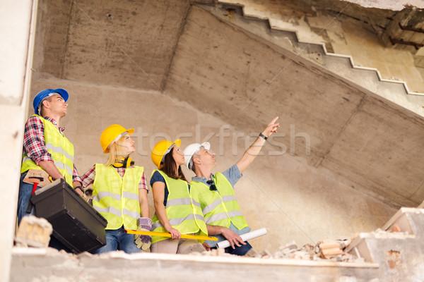Reconstrução catástrofe quatro construção edifício Foto stock © MilanMarkovic78