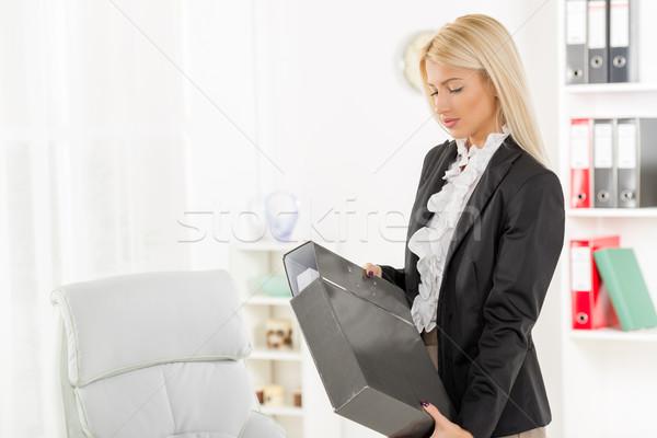 Businesswoman With Binder Stock photo © MilanMarkovic78