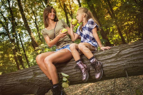 Mother And Daughter In The Forest Stock photo © MilanMarkovic78