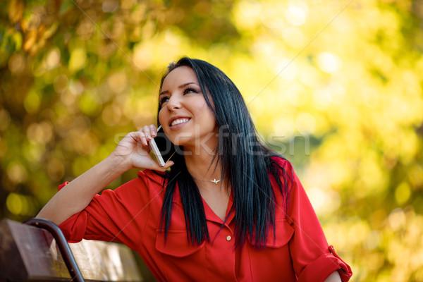 Una buona notizia telefono ritratto felice sorridere Foto d'archivio © MilanMarkovic78
