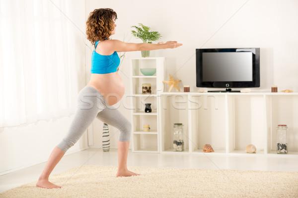 Relaxing Exercises For Pregnant Women Stock photo © MilanMarkovic78
