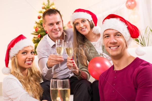 Christmas nowy rok szczęśliwy znajomych Zdjęcia stock © MilanMarkovic78