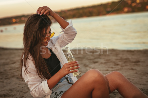 She Doesn't Need Much To Have Fun Stock photo © MilanMarkovic78