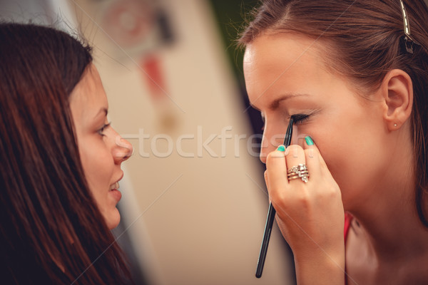 Stock photo: Makeup Process