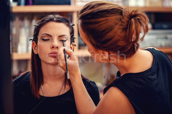 Perfect ogen eyeliner vrouw Stockfoto © MilanMarkovic78