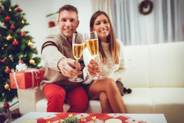 Natale giovani felice Coppia Foto d'archivio © MilanMarkovic78