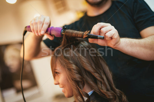 Stock photo: At The Hairdresser's