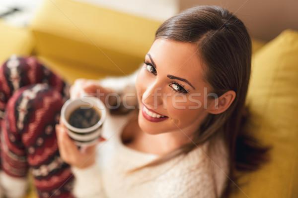 Enjoying At Coffee Stock photo © MilanMarkovic78