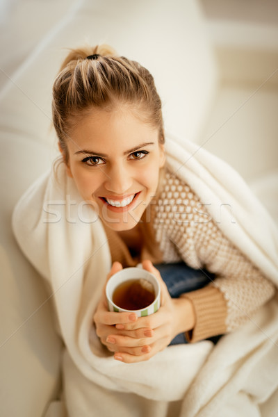 Girl With A Cup Of Tea Stock photo © MilanMarkovic78
