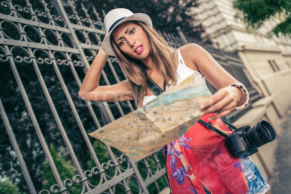Lost Woman Tourist Stock photo © MilanMarkovic78