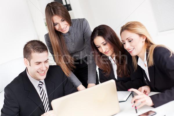 Zdjęcia stock: Zespół · firmy · szczęśliwy · business · woman · koledzy · projektu
