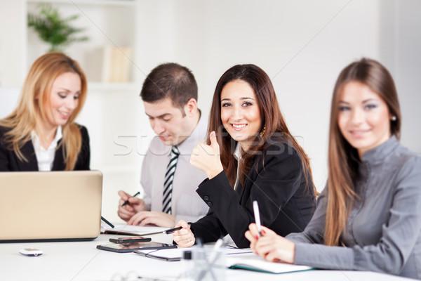 Zespół firmy szczęśliwy kobieta interesu biuro Zdjęcia stock © MilanMarkovic78