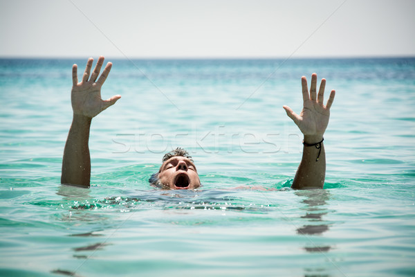 Drowning Man Stock photo © MilanMarkovic78