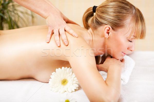 Woman Receiving Back Massage Stock photo © MilanMarkovic78