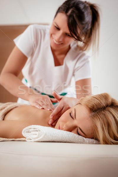 Stock photo: Back Massage