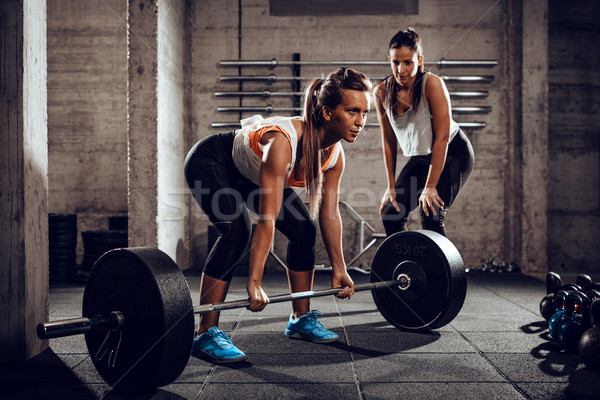 Girl Have A Hard Training Stock photo © MilanMarkovic78