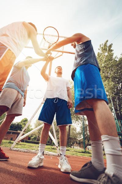 Basketbal droom team vier spelers sport Stockfoto © MilanMarkovic78