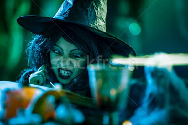 小さな 魔女 悪 クローズアップ 顔 見える ストックフォト © MilanMarkovic78