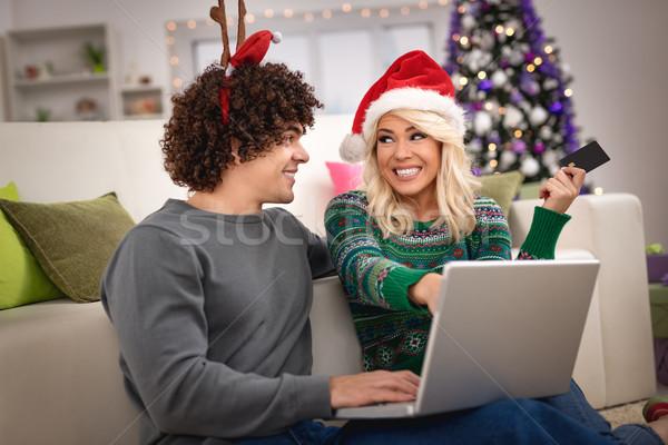 クリスマス ショッピング ホーム リラックス ストックフォト © MilanMarkovic78