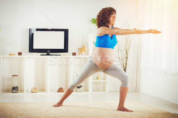 Yoga For Pregnant Women Stock photo © MilanMarkovic78