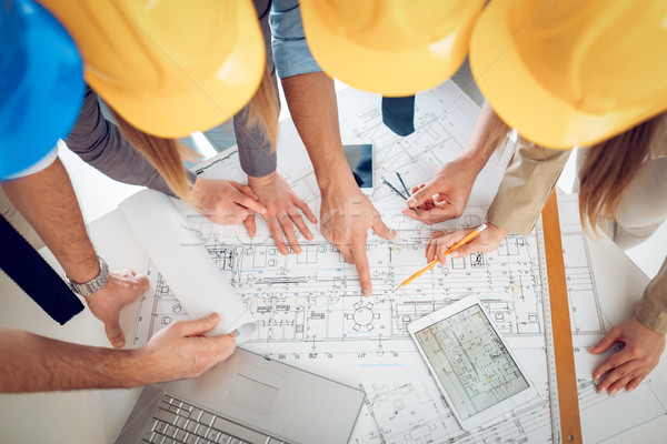Stock photo: Checking Plan Project
