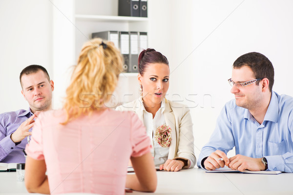Job interview Stock photo © MilanMarkovic78
