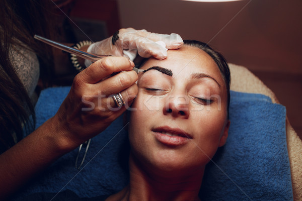 Microblading Eyebrows Stock photo © MilanMarkovic78