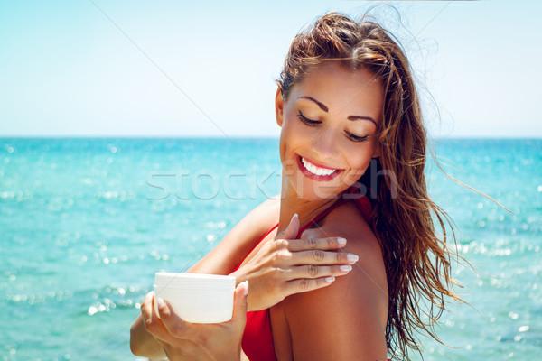 конечно красивой молодые улыбающаяся женщина Сток-фото © MilanMarkovic78