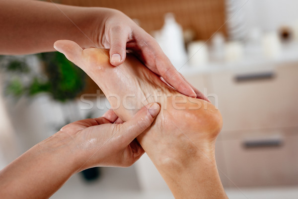 Reflexology Foot Massage Stock photo © MilanMarkovic78