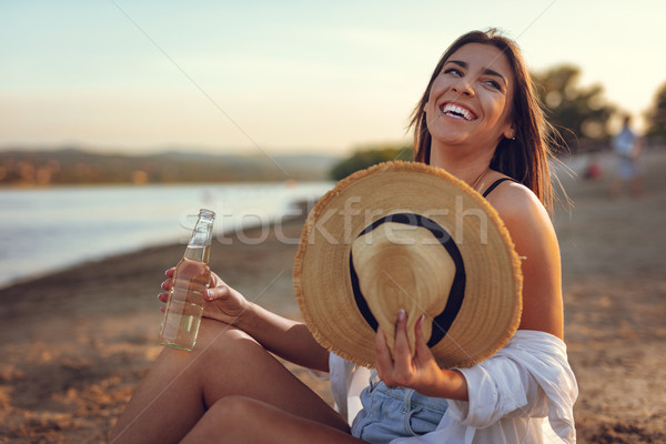 Stock photo: The Beach Is Where I Belong