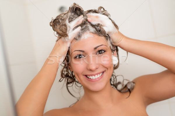 Girl Washing Hair Stock photo © MilanMarkovic78