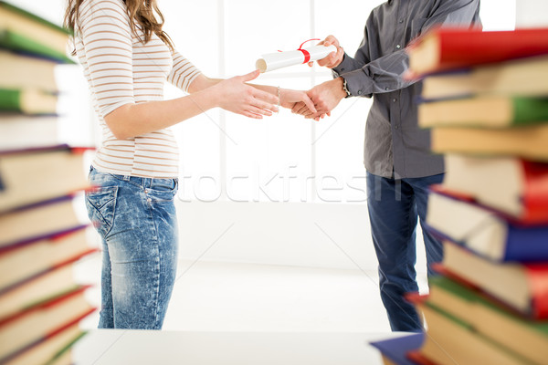 Congratulating for graduation. Stock photo © MilanMarkovic78