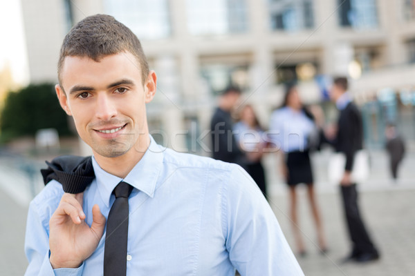 Jeunes affaires leader portrait affaires permanent Photo stock © MilanMarkovic78