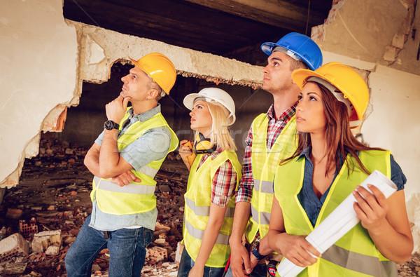 Reconstrução quatro construção edifício catástrofe Foto stock © MilanMarkovic78