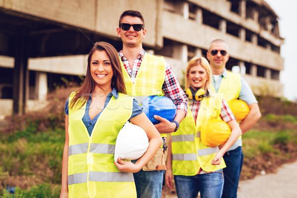 Udany zespołu cztery budowy front budynku Zdjęcia stock © MilanMarkovic78