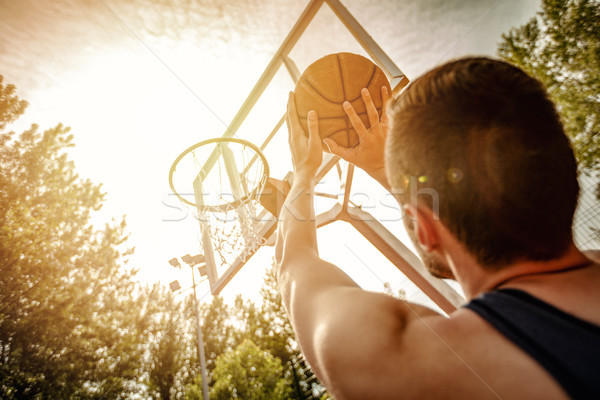 Free Basketball Throw Stock photo © MilanMarkovic78